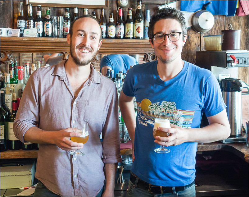 Brewmasters Mike and Jason at Bacchus in New Paltz, NY taken with a micro four thirds camera