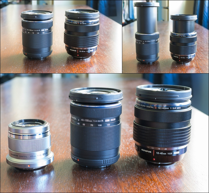 Olympus 40-150mm f4.0-f5.6 lens compared to other Olympus lenses