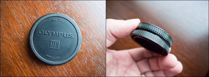Glue your lensback caps together for an easy way to consolidate small lenses in your bag.