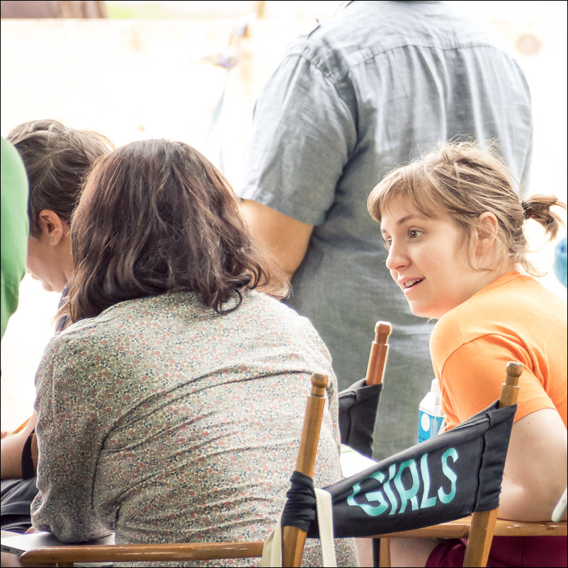 Lena Dunham on the set of Girls, New Paltz, NY. Olympus 40-150 at 150mm and f5.6