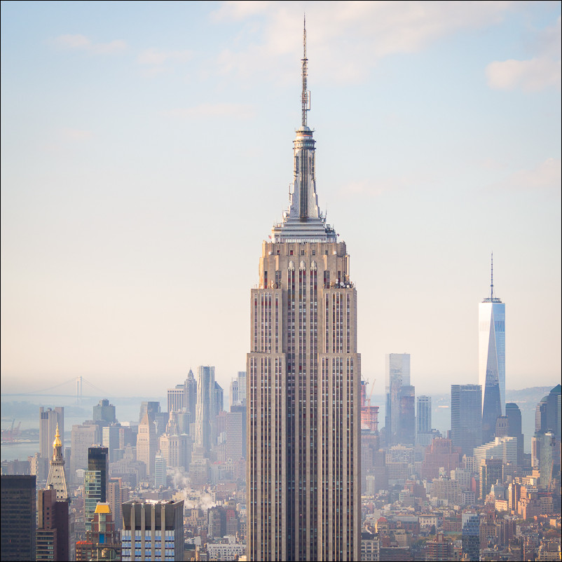 Empire State Building, New York City. Olympus 40-150 at 49mm and f5