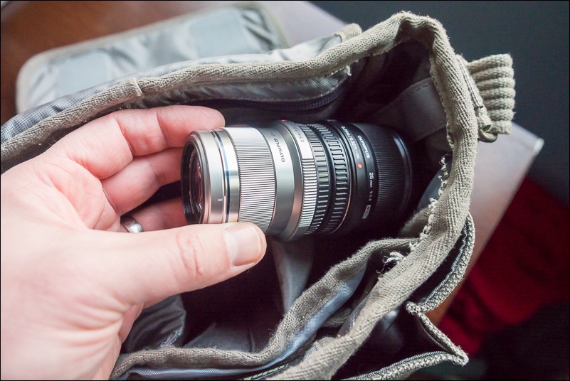Much better fit in your camera bag