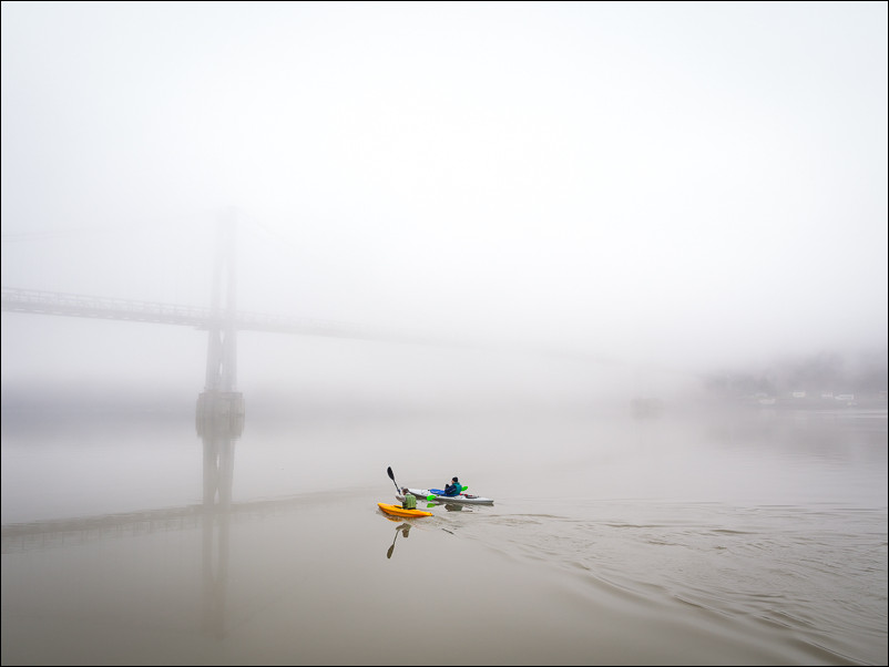 Kayakers on the Hudson | Poughkeepsie, NY