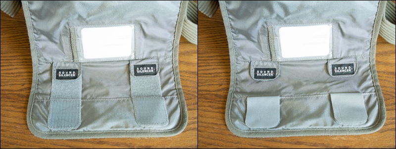 Use the velcro closures when you need them, tuck them away when you don't.