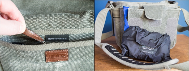 High quality zipper pulls and an integrated rain cover are nice touches.