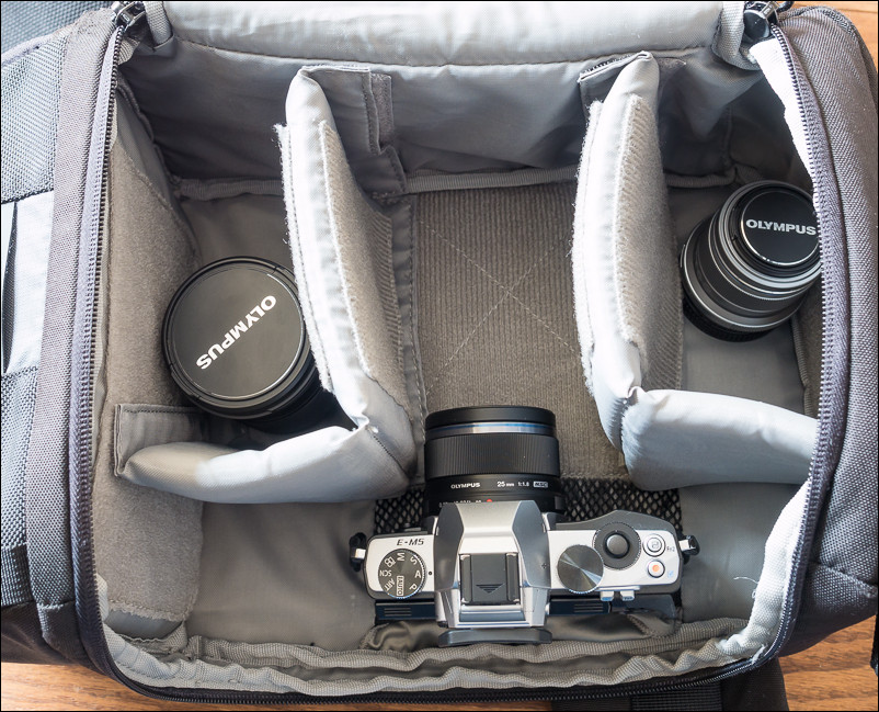 Old bags that I used to use for my DSLR weren't cutting it for a smaller camera kit. This used to be one of my go to bags, the Lowepro Slingshot 200.