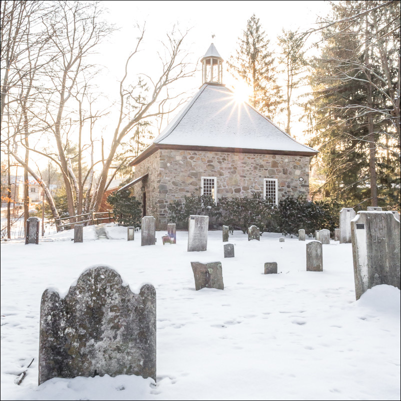 Old French Church in New Paltz, NY.  Shot at f/22