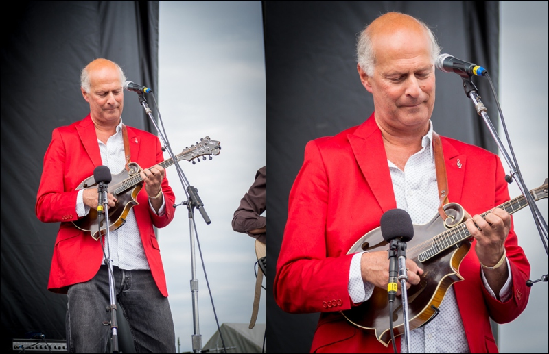 LEFT: Before cropping RIGHT: After cropping.  Removing distraction and focusing on the mandolin player cleaned up the photo and made this portrait stand out.