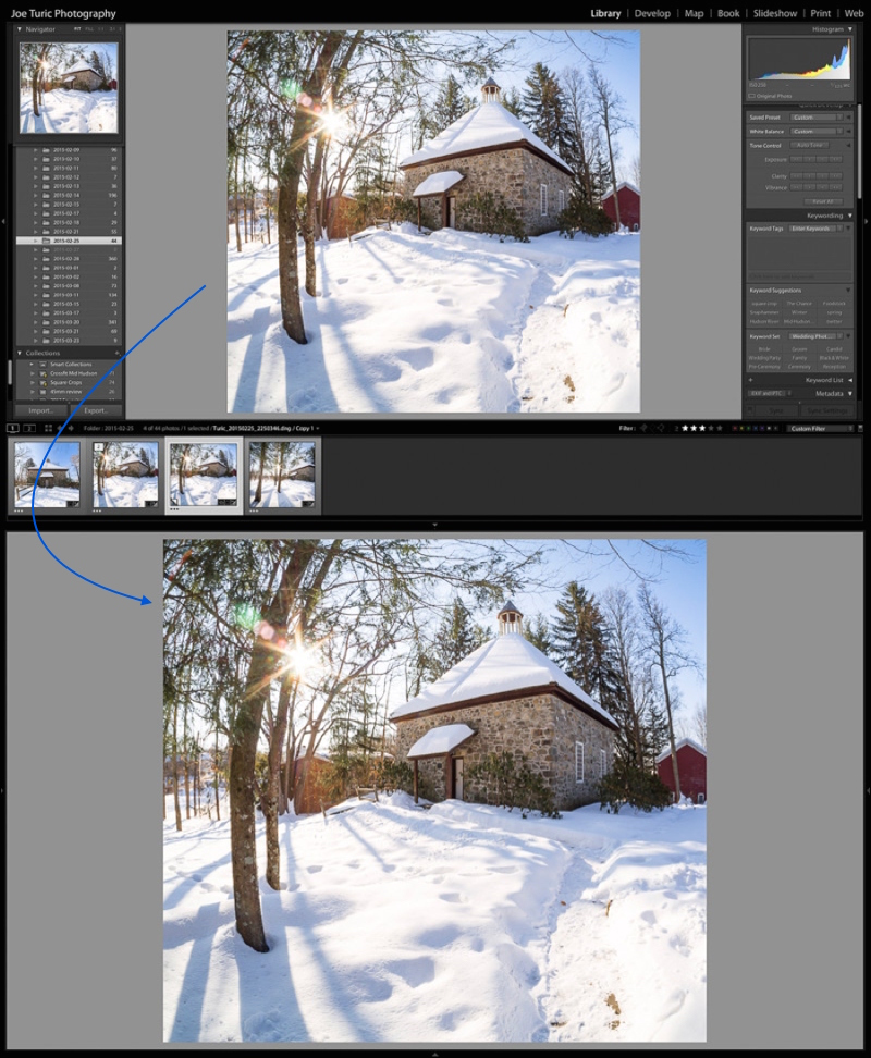 "Tapping ""shift-tab"" hides all of the panels in Lightroom.  Hit ""shift-tab"" again to bring them back."