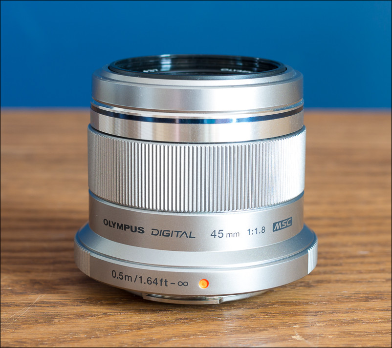 The Olympus 45mm f/1.8 prime lens