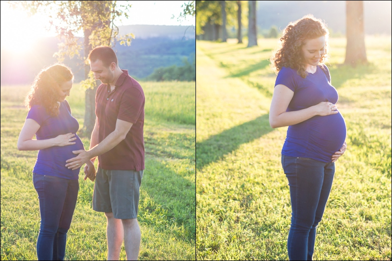 Myself and my wife at 38 weeks. At the end of this photo shoot, a couple of large black bears crossed our path, which gave us more than a bit of surprised scare.