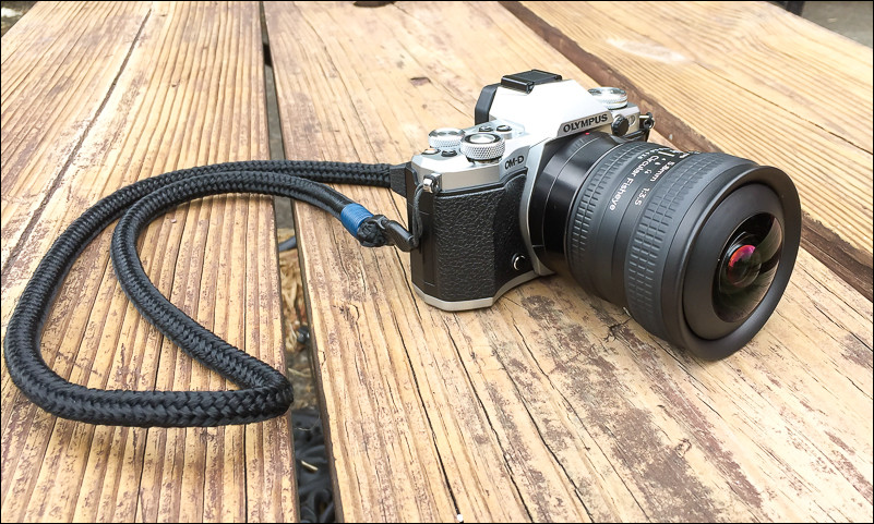 Lensbaby Circular Fisheye for micro four thirds mounted on an Olympus OM-D E-M5 Mark II