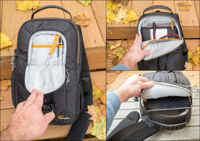 The Lowepro Slingshot Edge 150 has ample storage for such a small bag.