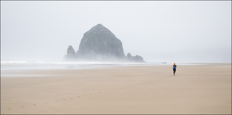 Morning Run at Haystack Rock | Cannon Beach, OR