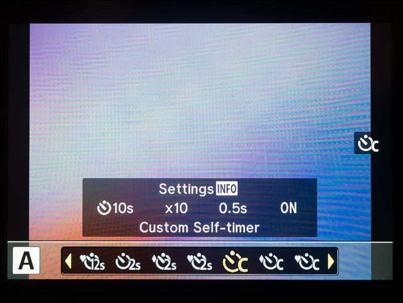"Pick the ""Custom Self-Timer"" mode"